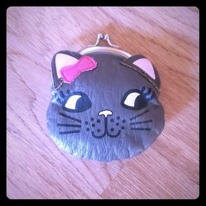 Mudd Kitty Cat Kiss lock Coin Purse